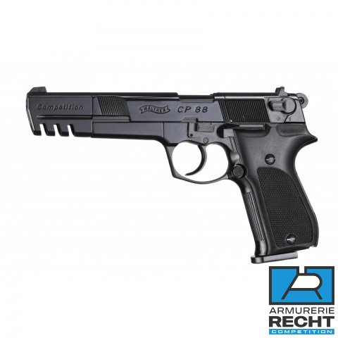 PISTOLET WALTHER CP88 COMPETITION 5.6'' BLACK WALTHER CO2 CAL 4.5MM