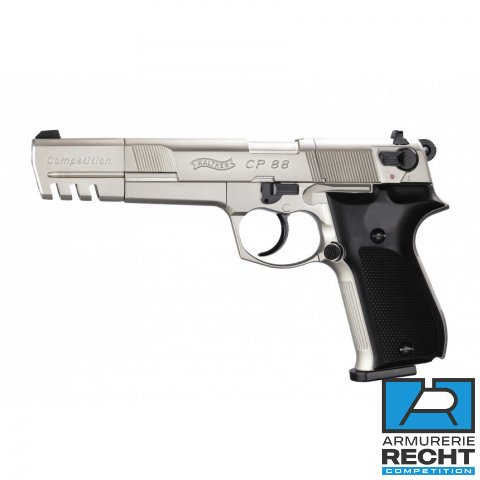 PISTOLET WALTHER CP88 COMPETITION 5.6'' NICKEL WALTHER CO2 CAL 4.5MM